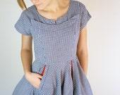 1940's Sailorette Gingham Dress