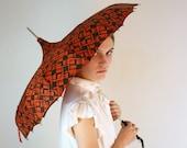1950's Mahogany Mod Umbrella