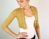 Cropped Oatmeal Vintage Cardigan