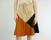 Vintage Indie Cotton Wrap Skirt