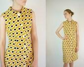 Vintage Geometric Mod Dress by Nelly de Grab