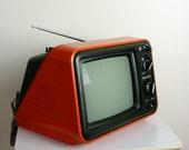 Vintage 1976 Panasonic Red Television