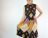 Vintage Mod Dress / 1960s Dancing Dress
