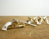 RESERVED. 1950s Gun Cufflinks / Swank Dueling Pistol Tie Clip