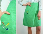 Golf Skirt / Vintage Summer Skirt