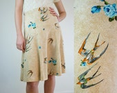 Bird Skirt / Swooping Swallow Print