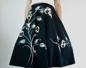 1950s Circle Skirt - 50s Cadillac Original Skirt