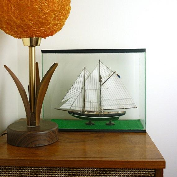 Vintage Sailboat Glass Display