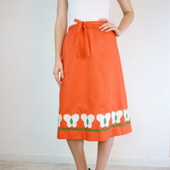 Vintage Butterfly Garden Skirt