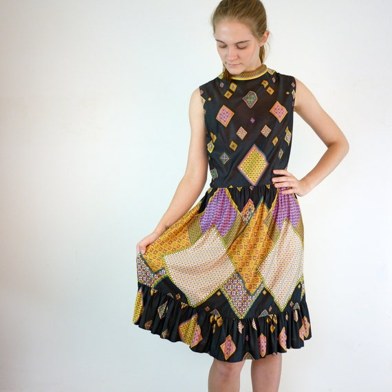 Vintage Mod Dress / 1960s Dancing Dress