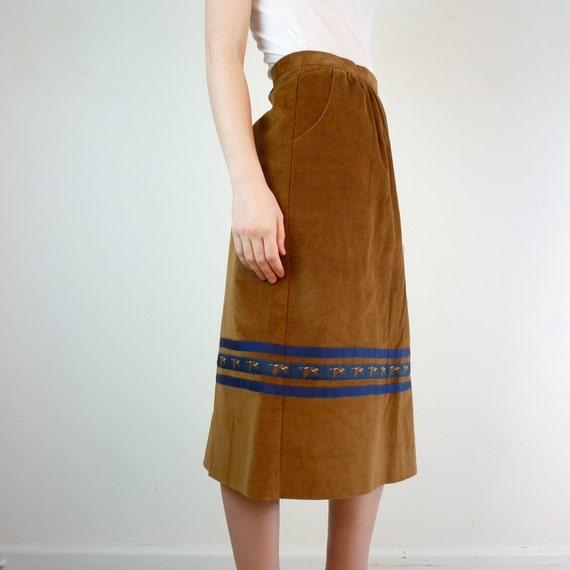 Bird Skirt - Corduroy Skirt