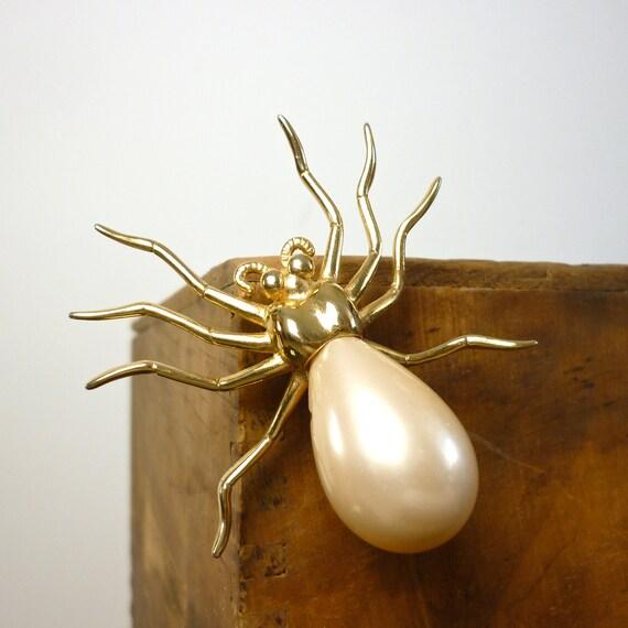 Spider Brooch - 1960s Vintage Pin