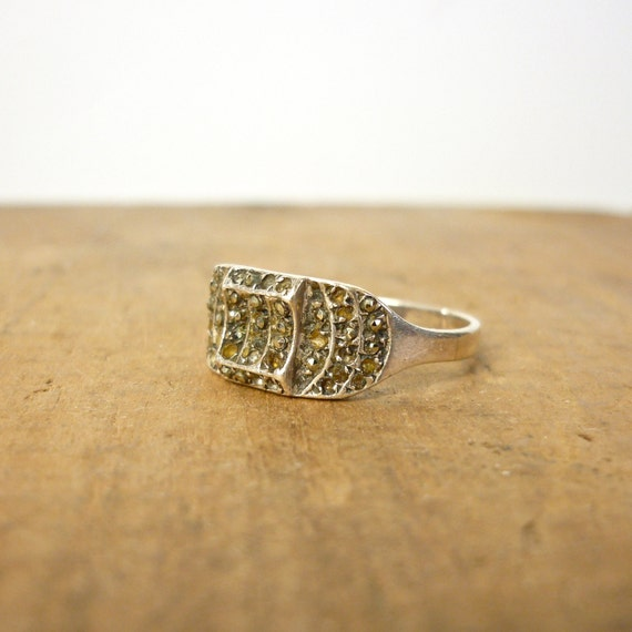 Art Deco Ring - 1930s Marcasite Ring