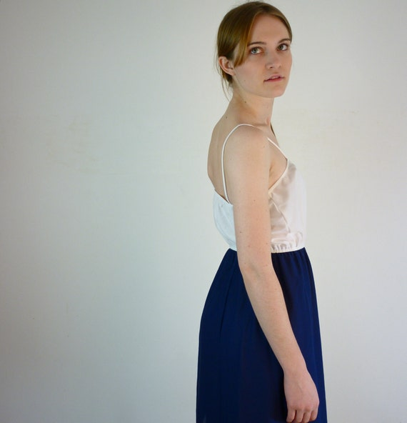 Vintage Sundress - 1970s Nautical Dress