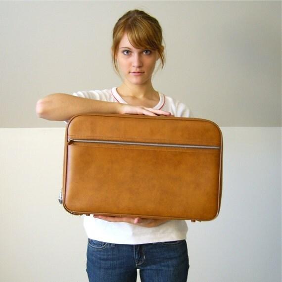 Coffee Brown Mini Suitcase