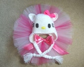 Hello Kitty hat and Tutu Set / Party / Photo Prop