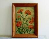 SUNDAY YARD SALE Vintage Floral Painting