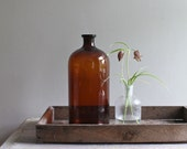 Vintage Apothecary Bottle Amber