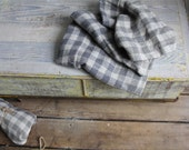 Vintage Fabric Yardage Rustic Gray Check