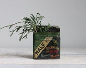 Antique Tobacco Tin - Holiday Colors