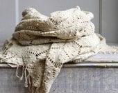 Vintage Crochet Bedspread - Coverlet