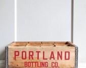 Vintage Industrial Divided Crate - Portland