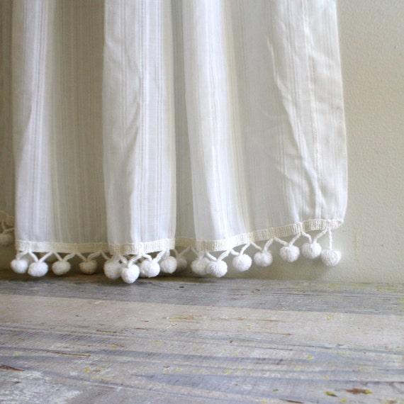 Vintage Pom Pom Curtain