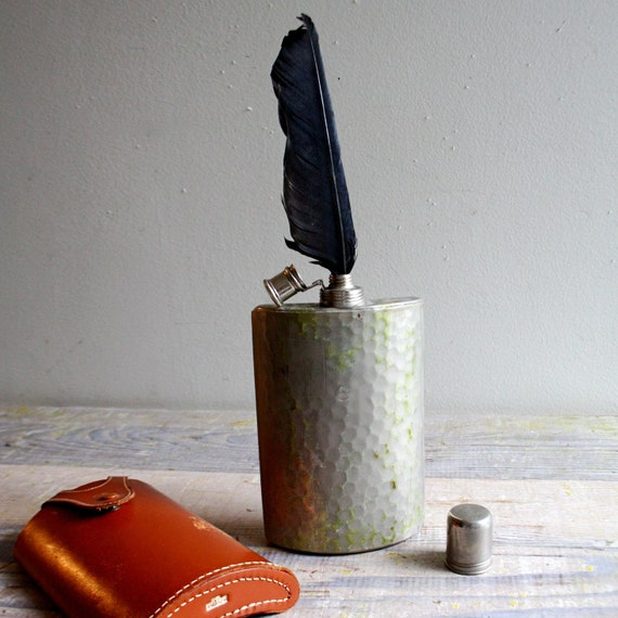 FOR HIM  Vintage Flask and Case