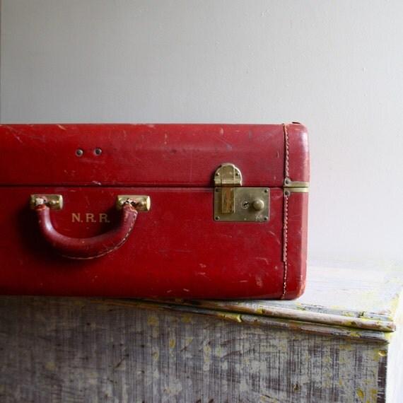 Vintage Leather Wardrobe Suitcase