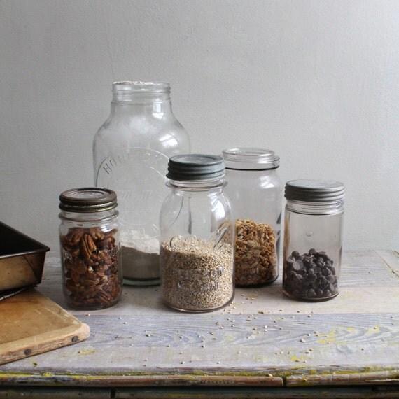 Antique Jar Storage Set
