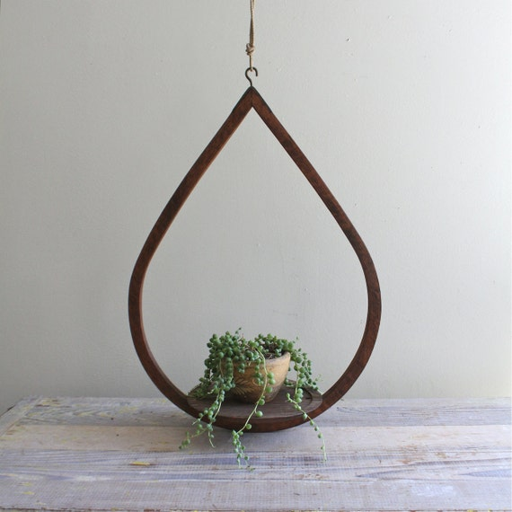 Vintage Hanging Teardrop Planter