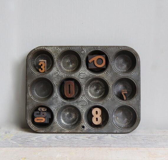 Pair Vintage Ovenex Muffin Pans