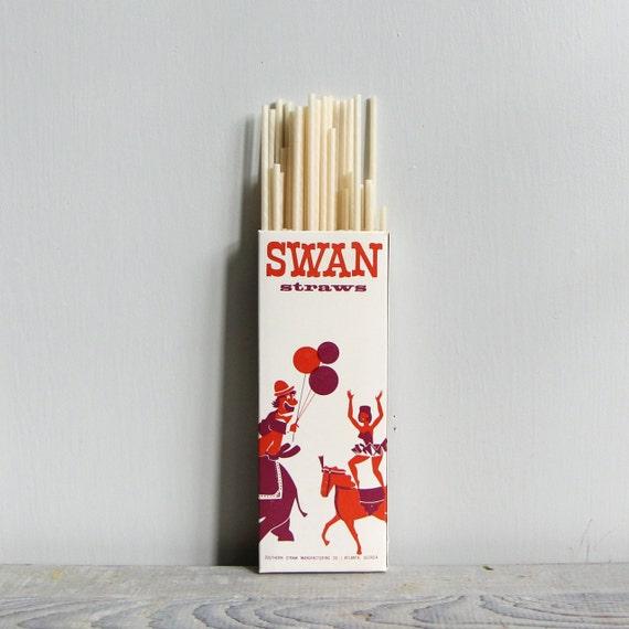 Vintage Paper Straws - 100
