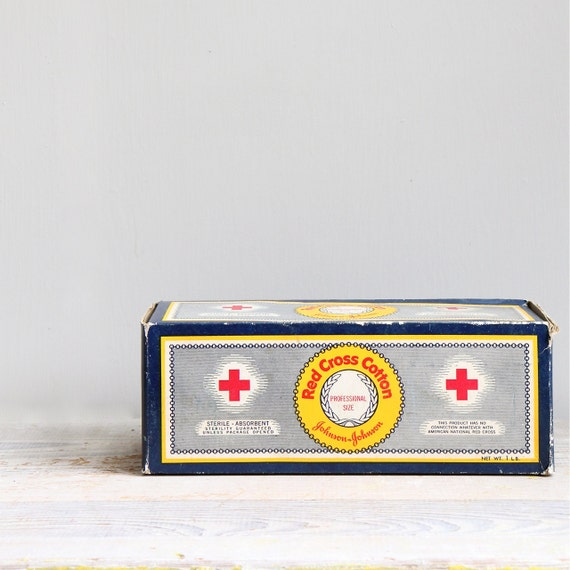 Vintage Red Cross First Aid Cotton - Deadstock