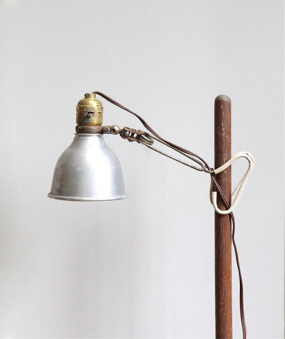 RESERVED  Vintage Industrial Telescoping Floor to Table Lamp