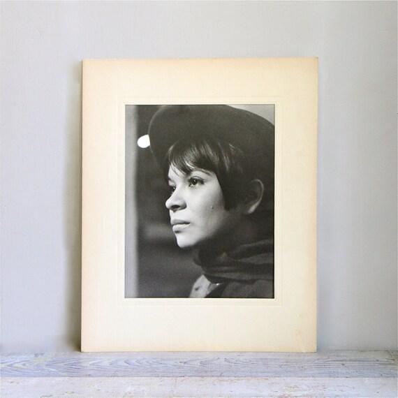 Vintage 1970's Black and White Portrait - Fashion Photography
