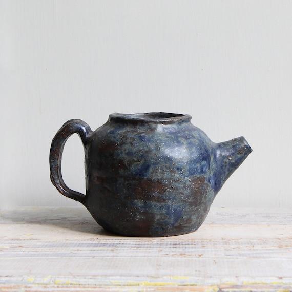ON SALE  Vintage Ceramic Studio Pottery Teapot