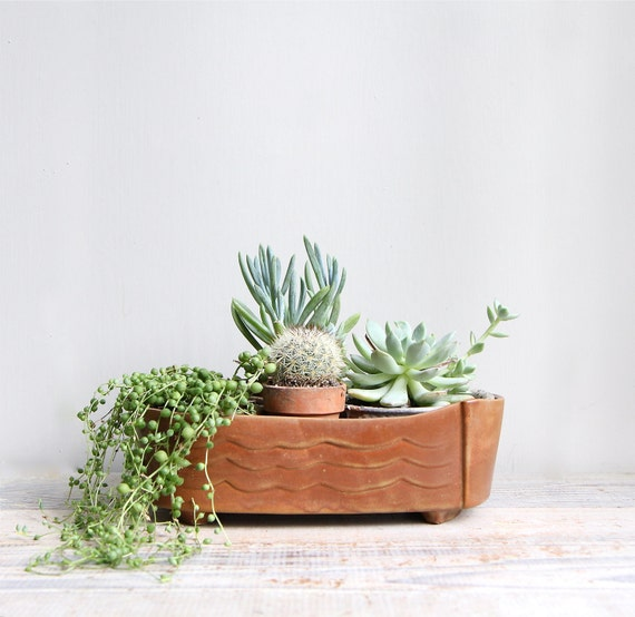Vintage Mid Century Pottery Planter Collection