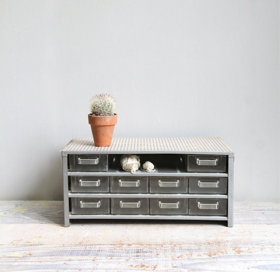 Vintage Industrial Organizer Drawers