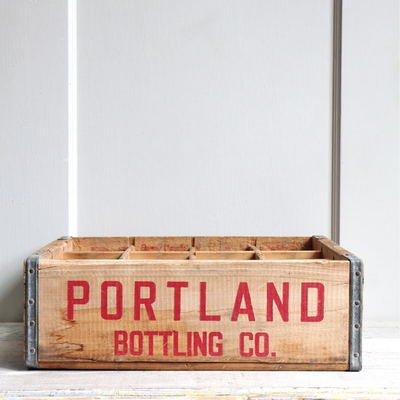 Vintage Industrial Divided Crate - Portland