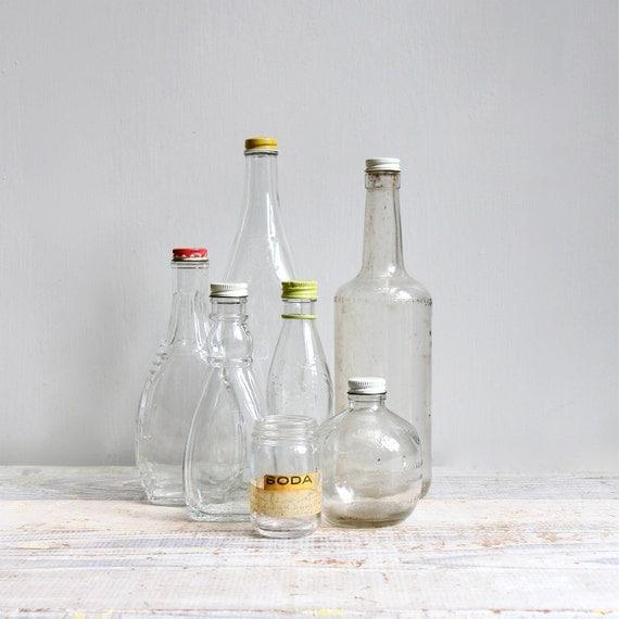 Vintage Kitchen Bottle Collection