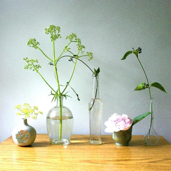 Vintage German Lab Glass Miniature Beaker Vase