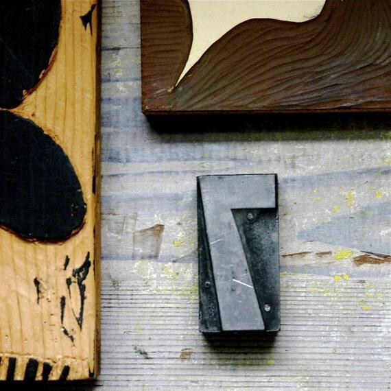 Luck Number Seven Letterpress Printmaking Stamp