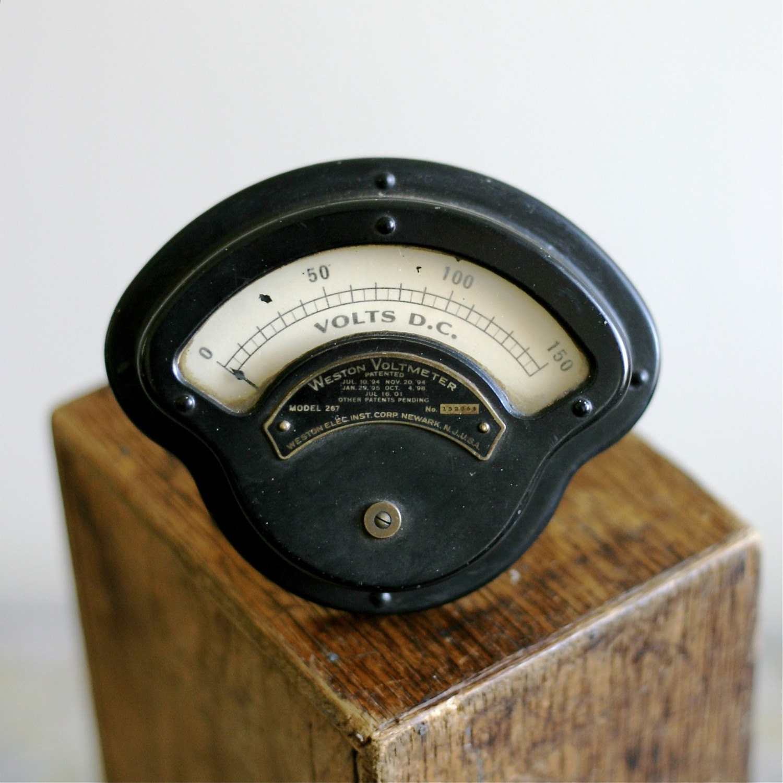 Antique Volt Meter : Antique weston ham radio voltmeter