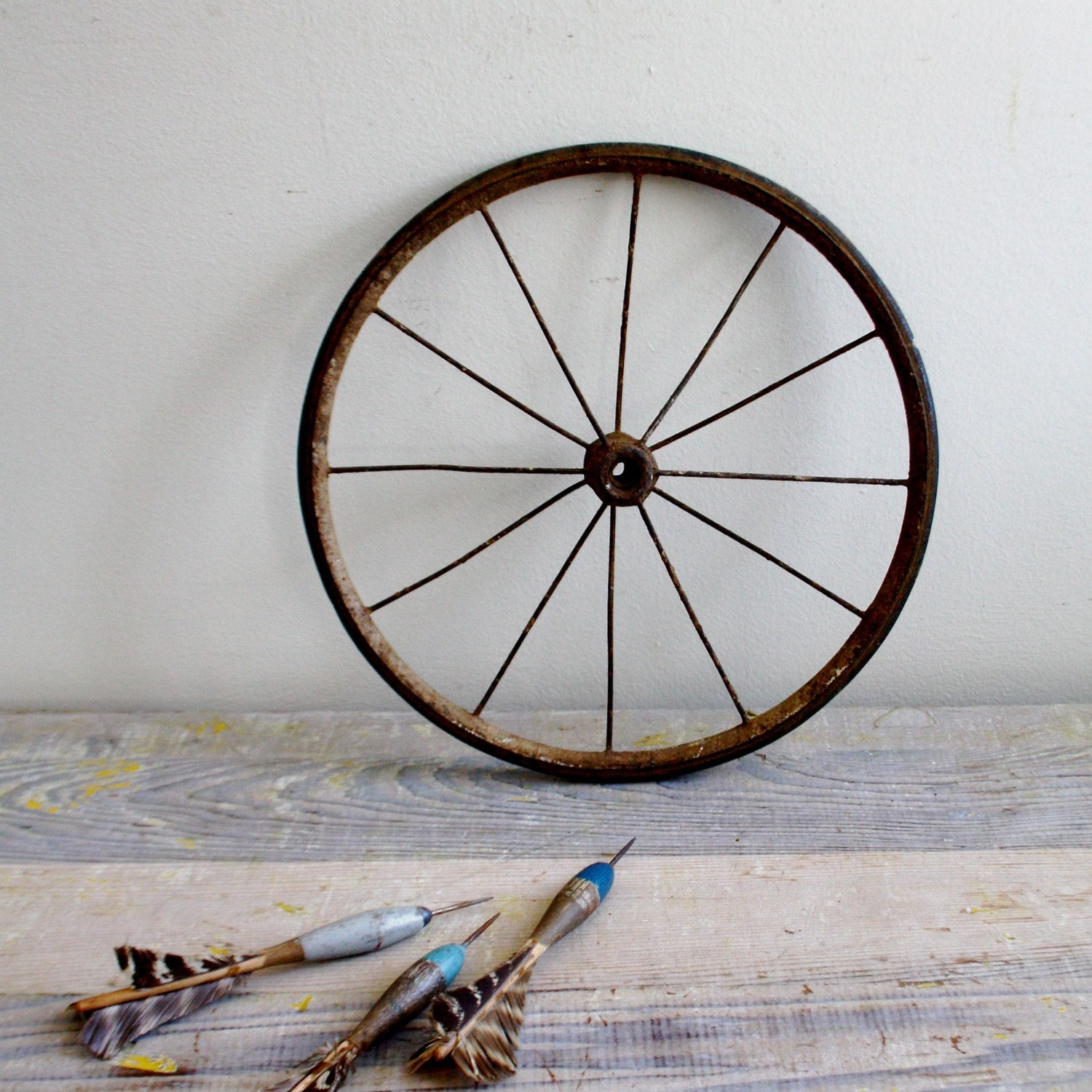 Antique Wood And Metal Wagon Wheel By Ethanollie On Etsy