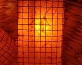 Garden Patio Lights - Handmade Paper - Set of Ten Orange Lanterns