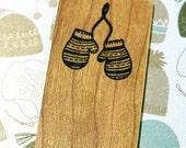 Mittens Wooden Bookmark - Cherry