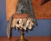 Primitive Candle Stick Crow on Sunflower