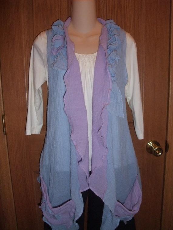 Guaze Chic Draping Vest