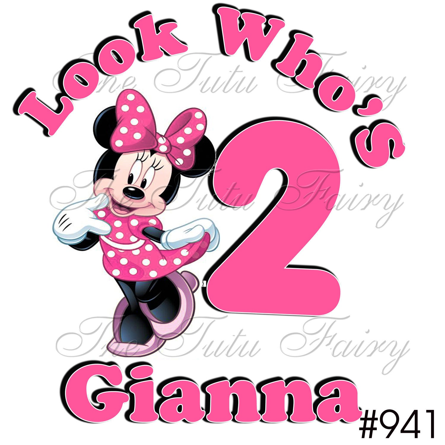 Minnie Mouse Look Whos 1 2 3 4 5 6 7 Age Name Personalized